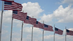 United States of America Flags at Washington Monument - stock footage