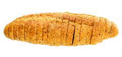 A whole wheat bread isolated on a white - stock photo
