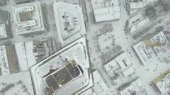Aerial Oregon Portland Snowy Stock Footage
