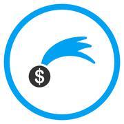 Falling Lucky Money Icon - stock illustration