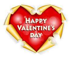 Valentines day background - stock illustration