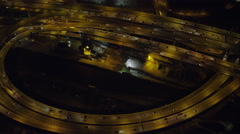 Traffic on highway in North End Boston at night. Shot in November 2011. Stock Footage