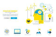 Positive energy concept - stock illustration