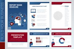 Annual report book cover and presentation template Piirros