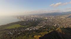 Aerial Oahu Diamond Head Honolulu Stock Footage