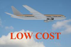 Low Cost Flight concept Stock Illustration