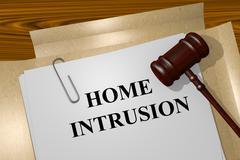 Home Intrusion concept - stock illustration
