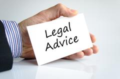 Legal advice text concept - stock photo