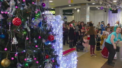 Christmas show for children Stock Footage