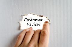 Customer review text concept Stock Photos