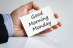 Good morning monday text concept Stock Photos