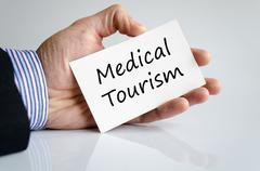 Medical tourism text concept Stock Photos