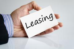 Leasing text concept Stock Photos