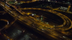North End Boston traffic at night. Shot in 2011. Stock Footage