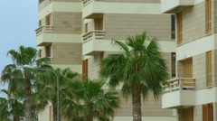 Establishing shot of luxury hotel at exotic resort. Summer vacation at seaside Stock Footage