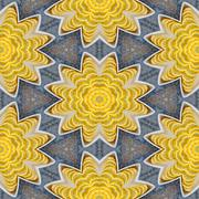 Background with lemon slices in a bowl, seamless, generated kaleidoscopically - stock illustration