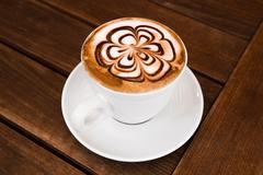 Cup of Cappuccino Coffee Stock Photos