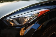 Headlight of car Stock Photos