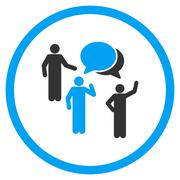 People Discussion Icon - stock illustration