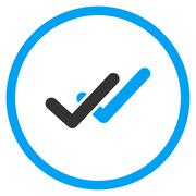 Validation Flat Icon Stock Illustration