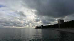 Movement of the clouds over the Black Sea. Pitsunda, Abkhazia, Full HD - stock footage