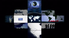 Business Montage Background Animation, Loop, 4k - stock footage