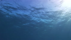 The rays of the sun underwater. Background. Stock Footage