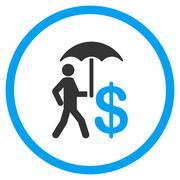 Banker Umbrella Protection Icon Stock Illustration