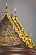 Thai ancient colorful. Located in Bangkok, Thailand Stock Photos