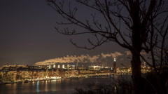 Stockholm Cityscape time-lapse winter Stock Footage