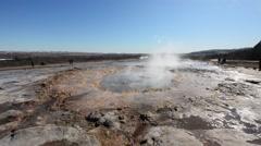 Strokkur Geyser erupting Stock Footage
