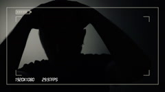 Person in witness protection program during police interview Stock Footage