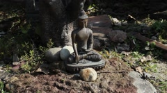 Figurine of Buddha. Shadow Stock Footage
