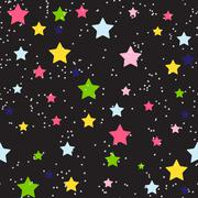 Cute Star Seamless Pattern Background Vector Illustration Stock Illustration