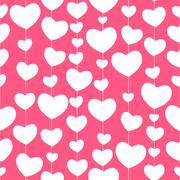 Heart Love Seamless Pattern Background Vector Illustration Stock Illustration