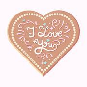 Valentine and wedding love card - stock illustration