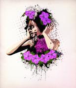 Wonderful flowers Stock Illustration