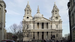 Saint Paul's cathedral, London, west front. Stock Footage