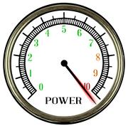 Power Meter - stock illustration