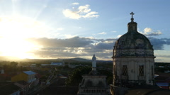 Sunset time lapse from Iglesia La Merced in Granada Stock Footage
