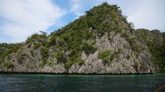 Wonderful lagoon in Palawan, Philippines. Stock Footage