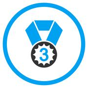 Third Place Medal Icon - stock illustration
