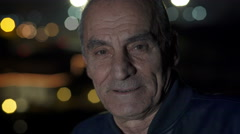 Stock Video Footage of Portrait of a smiling old man, wrinkles on his face