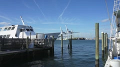 Harbor at Cape Canaveral - stock footage