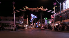 Fremont East District neon sign Stock Footage