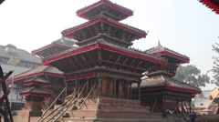 Buildings of the temples in the center of the square Stock Footage