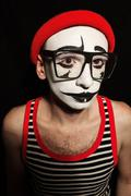 Portrait of sad mime Stock Photos