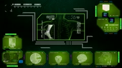 Foot - Computer Scan - green 01 Arkistovideo