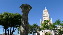 Iglesia Xalteva church in Granada Stock Footage