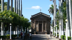 people at Nicaragua's oldest cemetery in Granada - stock footage